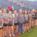 Screaming Eagles being honored at the Braves game